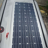 How about the semi-flexible solar panel installed on the RV?